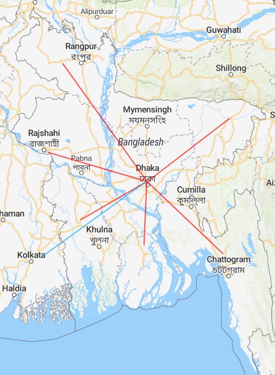 Novoair Route Map